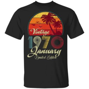 50th Birthday Retro Vintage January 1970 Shirt Long Sleeve