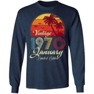 50th Birthday Retro Vintage January 1970 Shirt Long Sleeve