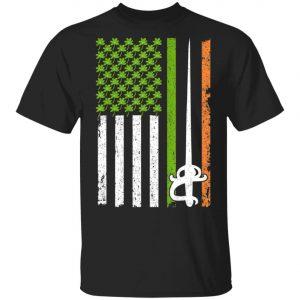 Irish Fencing American Flag Saint Patricks Day Shirt, Long Sleeve
