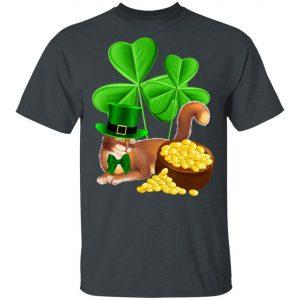 Abyssinian Cat St Patricks Day Shirt - Leprechaun Cat Lover T-Shirt