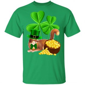 Abyssinian Cat St Patricks Day Shirt - Leprechaun Cat Lover T-Shirt