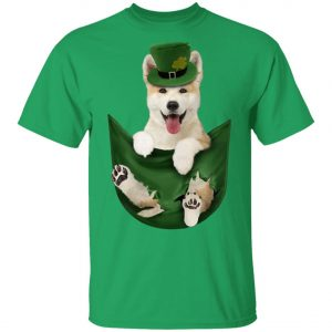Akita In Your Pocket St Patricks Day Dog Lover Shirt, Long Sleeve