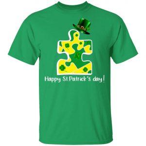 Autism Piece Leprechaun Saint Patricks Day Shirt, Long Sleeve