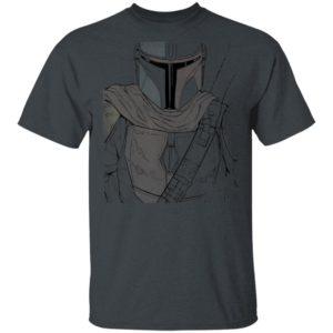 Star Wars The Mandalorian Muted Warrior T-Shirt Hoodie LS