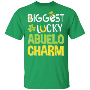 Biggest-Lucky Abuelo Charm Saint Patricks Day T-Shirt, Bella