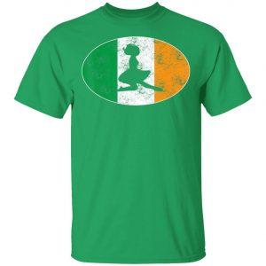 Beautiful Irish Flag Mixed Ballet Girl Saint Patrick Day T-Shirt, Bella