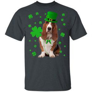 Basset Hound Saint Patricks Day T-Shirt, Long Sleeve