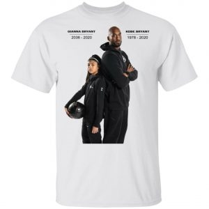 Kobe Bryant and Gianna Tribute T-shirt ajusté, Long Sleeve