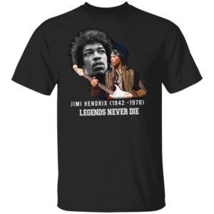 Jimi Hendrix 1942 1970 Legends Never Die Signature Shirt Long Sleeve