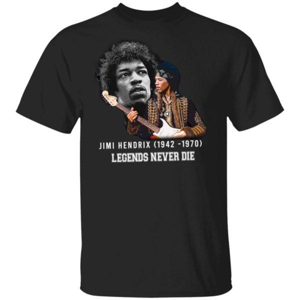Jimi Hendrix 1942 1970 Legends Never Die Signature Shirt Long Sleeve