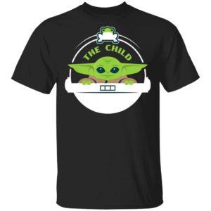 Baby Yoda Shirt Star Wars The Mandalorian The Child Floating Pod Frog Snack Long Sleeve