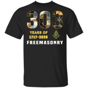 303 Years Of Freemansory 1717 2020 Shirt Hoodie LS