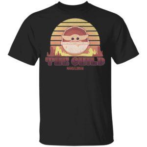 Star Wars The Mandalorian The Child Baby Yoda Retro Line Shirt Hoodie LS