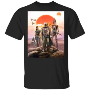 Star Wars The Mandalorian Group Shirt Hoodie Long Sleeve