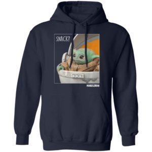 Star Wars The Mandalorian The Child Baby Yoda Snack Time Shirt Hoodie