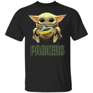 Baby Yoda Hug Green Bay Packer Shirt Hoodie