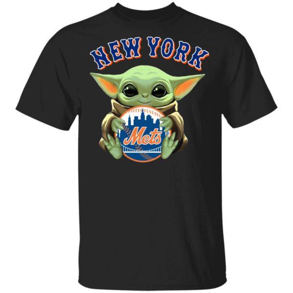 Baby Yoda Hug New York Mets Star Wars Shirt Hoodie LS
