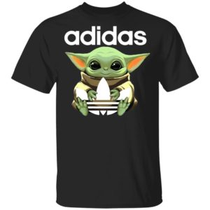 Baby Yoda Hug Adidas Star Wars Shirt Hoodie