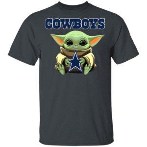 Baby Yoda Hug Dallas Cowboys Star Wars Shirt Hoodie Long Sleeve