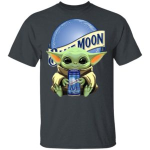 Baby Yoda Drink Blue Moon Beer Star Wars Shirt Hoodie LS