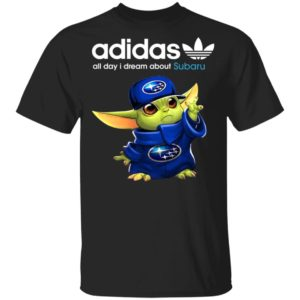 Baby Yoda All Day I Dream About Subaru Adidas Shirt Hoodie LS