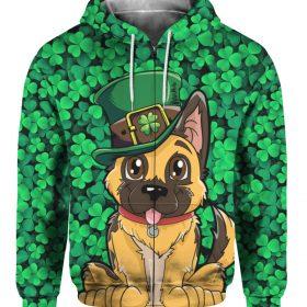 German Shepherd Leprechaun St. Patricks Day 3D Print Shirt, Hoodie, Long Sleeve