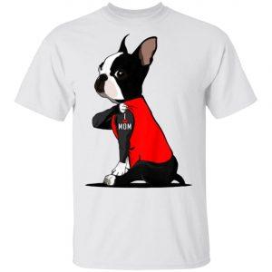 Boston Terrier Tattoos I Love Mom Shirt, Long Sleeve