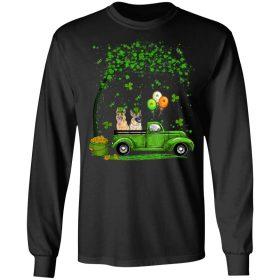 Blue Truck Pickup German Shepherd St Patricks Day Dog Lovers T-Shirt, Long Sleeve, Tank Top