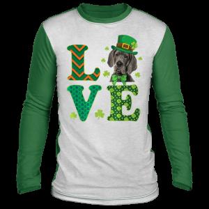 Love Great Dane St. Patricks Day Dog Dad Mom T-Shirt, Long Sleeve, Hoodie