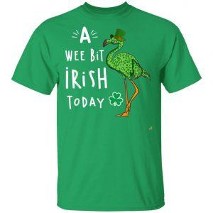 A Wee Bit Irish Today Flamingo Leprechaun St Patricks Day Shirt, Tank Top