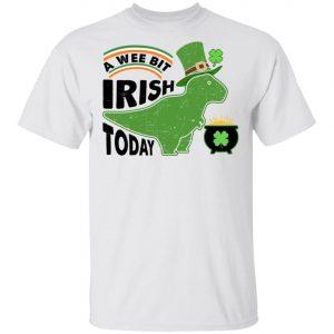 A Wee Bit Irish Today Dinosaur T-Rex St. Patricks Day Shirt, Long Sleeve
