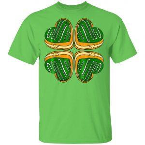 Four Leaf Clover Donut St Patricks Day Funny Irish T-Shirt, Long Sleeve, Hoodie