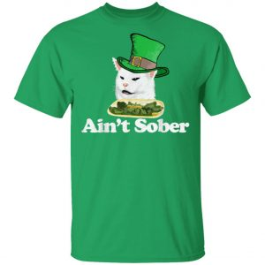 Aint Sober Drunk Arguing Cat Meme St Patricks Retro T-Shirt, Long Sleeve