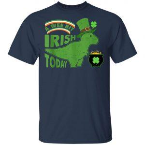 A Wee Bit Irish Today Dinosaur T-Rex St. Patricks Day Shirt, Tank Top
