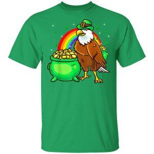 American Bald Eagle Leprechaun St Patricks Day T-Shirt, Long Sleeve
