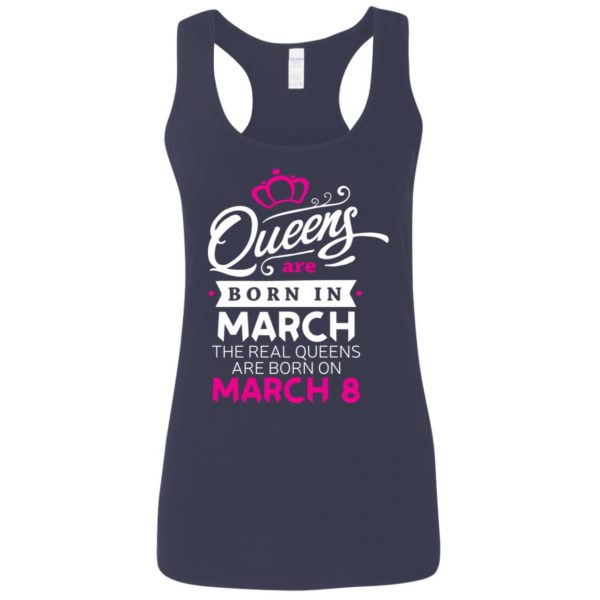 Real Queens are born on March 8 - International Womens Day T-Shirt, Hoodie