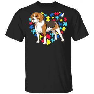 Autism Awareness Beagle Dog Heart T-Shirt, Long Sleeve, Hoodie