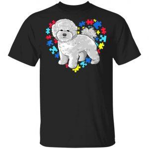 Autism Awareness bichon frise Dog Heart T-Shirt, Long Sleeve, Hoodie