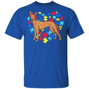 Autism Awareness Pharaoh Hound Dog Heart T-Shirt, Long Sleeve, Hoodie