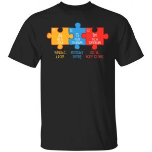 Autism Awareness Puzzle Chemical Element Autism Month T-Shirt, Long Sleeve, Hoodie