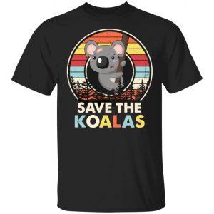 Save The Koalas Bear Australian Animals Vintage T-Shirt, Long Sleeve, Hoode