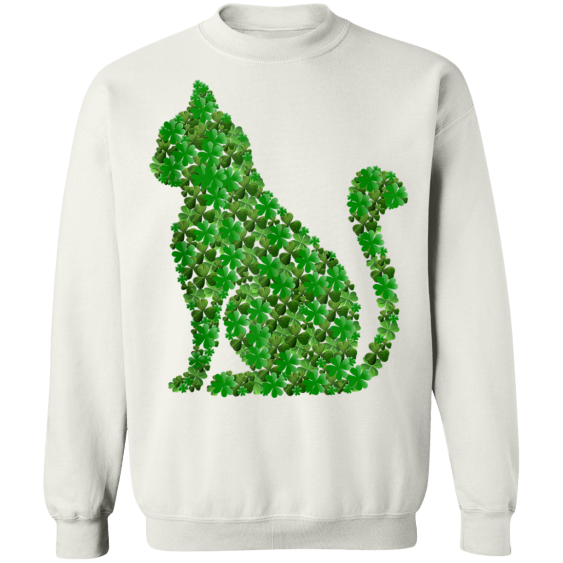 Cat Shamrocks Tee St.Patricks Day Cats Kitty Lover Irish T-Shirt, Long Sleeve