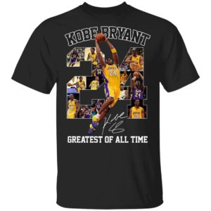 24 NBA Kobe Bryant Lakers Greatest Of All TimeLos Angeles Lakers Signature T-Shirt