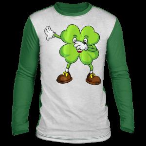 Funny Dabbing Shamrock St Patricks Day Shamrock Lucky Irish T-Shirt, Long Sleeve, Hoodie