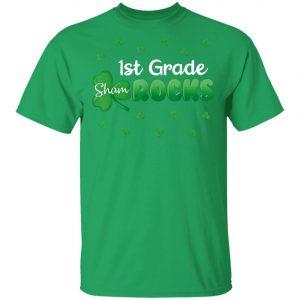 1st Grade Shamrocks St Patricks Day Kid Boy Girl Shirt, Long Sleeve