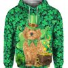 Goldendoodle St Patricks Day Irish Dog 3D Print Shirt, Long Sleeve, Hoodie