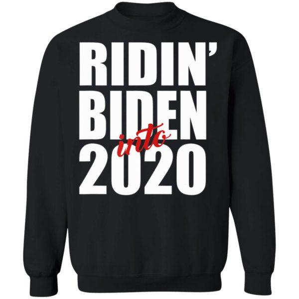 Ridin Biden Into 2020 Funny Joe Biden Vote For President Shirt