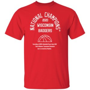 2020 National Champions Shirt - Wisconsin Badgers