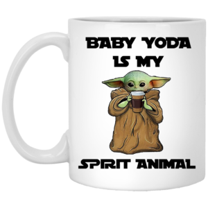 Baby Yoda Is My Spirit Animal Coffe Mug, Necklace