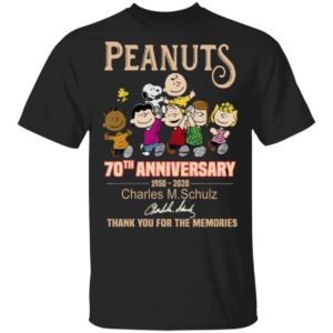 Peanuts 70th Anniversary 1950-2020 Charles MSchulz Signature Shirt